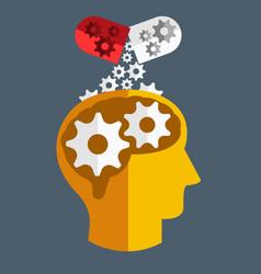 brain medicine flat design vector image