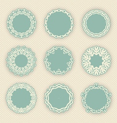 Decorative circular borders vector