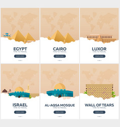 egypt israel time to travel set of travel vector image vector image