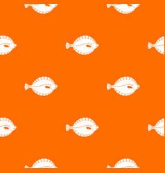 Flounder pattern seamless vector