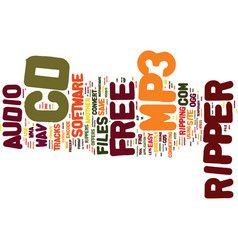 Free cd to mp ripper text background word cloud vector