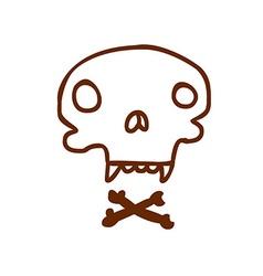 Hand Drawn Skull and Bones vector image vector image