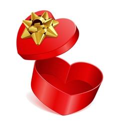 heart gift open vector image vector image