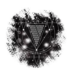 Magic alchemy symbol abracadabra geometric vector