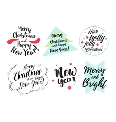 Merry Christmas and happy holidays vector image vector image