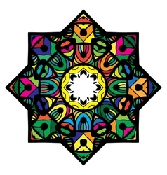 Multicolor mandala from a variety of bright vector image