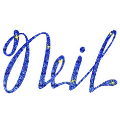 Neil name lettering tinsels vector
