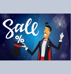 Sale - cartoon people characters with vector