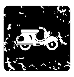 Scooter motorbike icon grunge style vector