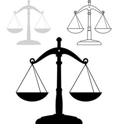 set of scales silhouettes and contour vector image vector image