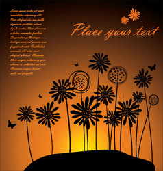 Sunset background vector image vector image