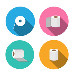 Tissue paper icons in flat style vector