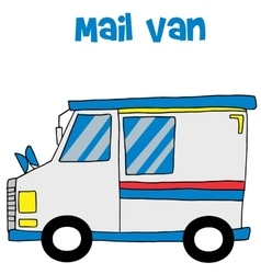 Transportation of mail van collection vector