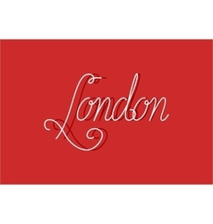 Sign london can be use for banners or greeting vector