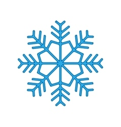 Snowflake winter isolated on white background vector