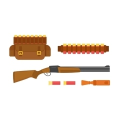 Hunting gun vector image