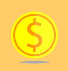 Coin icon gold money circle investment vector