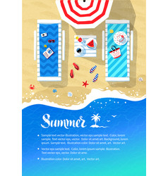 summer vacation flyer design vector image