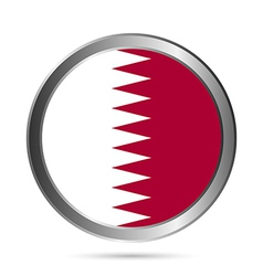 Qatar flag button vector