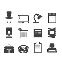 office and firm icons vector image