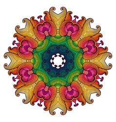 Ethnic round ornamental pattern vector image