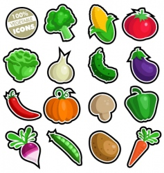 Vegetable icons vector