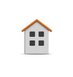 3d home icon vector image vector image