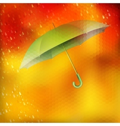Abstract umbrella and raindrops eps 10 vector