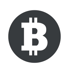 Monochrome round bitcoin icon vector