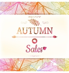 Autumn sale background EPS 10 vector image