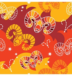 Aries - Zodiac seamless pattern vector image