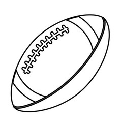 ball american football sport equipment outline vector image