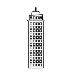 Building construction work business outline vector