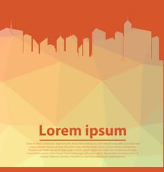 city skyscraper silhouette cityscape background vector image
