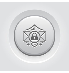Email Security Icon Grey Button Design vector image vector image