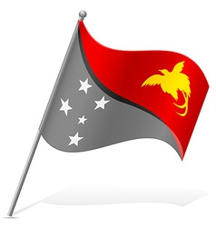 flag of Papua New Guinea vector image