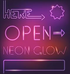 Glowing neon elements vector image