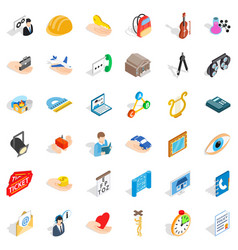 Good work icons set isometric style vector