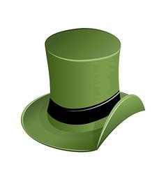 Green hat in saint Patricks Day vector image vector image