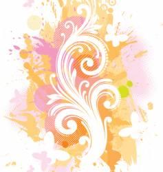 Grunge floral illustration vector