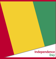 Guinea independence day vector