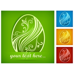 happy easter eggs color 10 v vector image