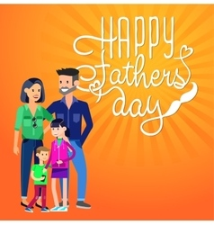 Happy fathers day background vector image vector image