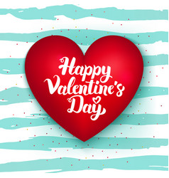 Happy valentines day cute heart vector