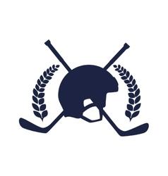 Hockey sport emblem icon vector