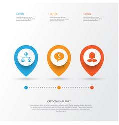 human icons set collection of partnership vector image