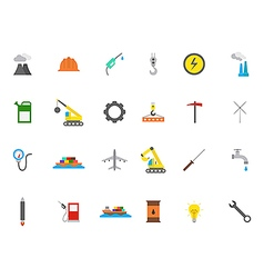 Industry icons set vector image vector image