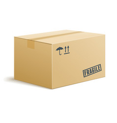 Isolated cardboard box on transparent background vector