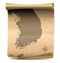 Korea vintage map vector