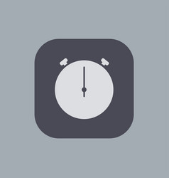 modern stopwatch icon on gray background vector image vector image